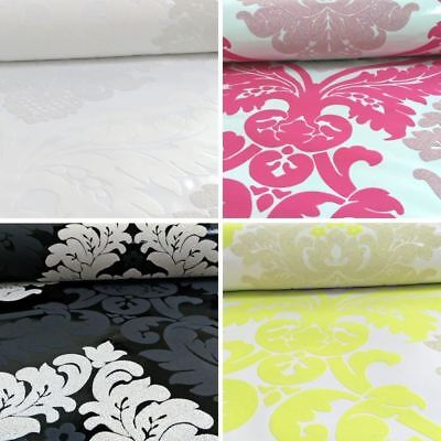 New AS Creation Damask Pattern Wallpaper Floral Leaf Embossed Glitter Motif Roll • 11.99£