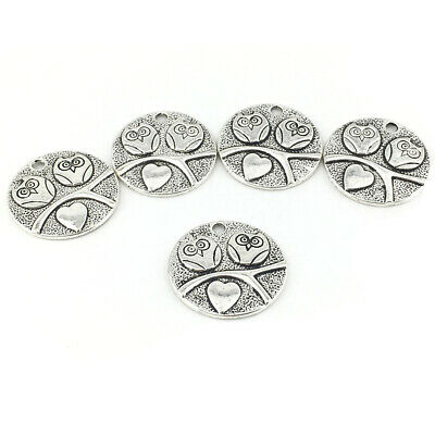 Owl Charm/Pendant Tibetan Antique Silver 25mm  5 Charms Accessory DIY Jewellery • 2.69£