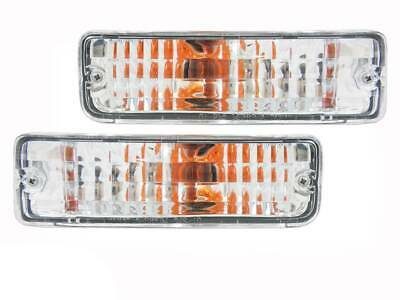 AU39.90 • Buy Crystal Clear Front Bar Indicator Lights Suits Toyota Hilux 88-97  Surf 4Runner