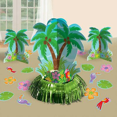 Hawaiian Party Palm Tree Table Decorations Kit Centrepieces & Table Sprinkles • 4.99£