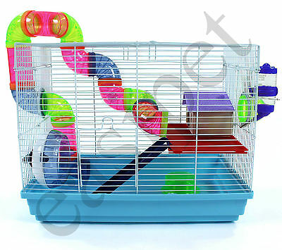 Syrian Dwarf Hamster Gerbil Mouse Rat Rodent Small Pet Cage House Wheel Easipet • 27.99£