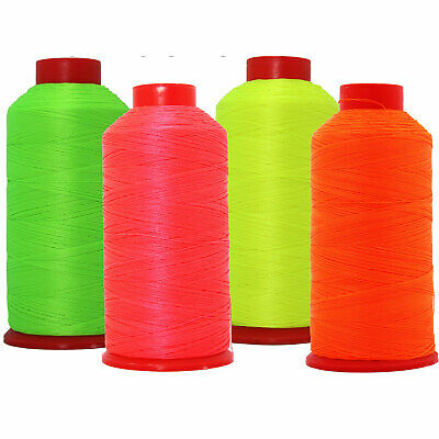 £9.45 • Buy Neon Colors Bonded Nylon Thread #69 Upholstery Canvas Leather 1650yd Cones Tex70