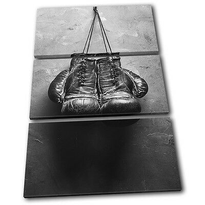£34.99 • Buy Boxing Gloves Gym Vintage Sports TREBLE CANVAS WALL ART Picture Print