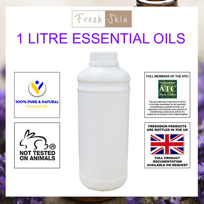 1 Litre 100% Pure Essential Oils (1000ml) - 59 Different Types To Choose From! • 94.99£