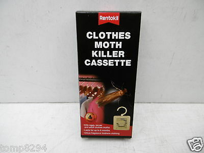 Rentokil Pack Of 4 Clothes Moth Killer Cassettes • 7.59£