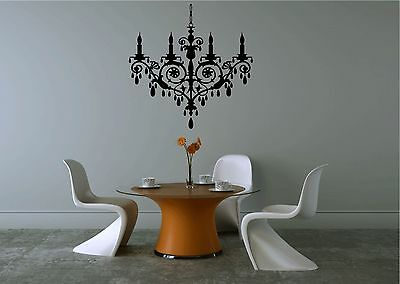 £11.33 • Buy Fancy Chandelier Home Vinyl Sticker/Decal For Wall In Your Home Decor.