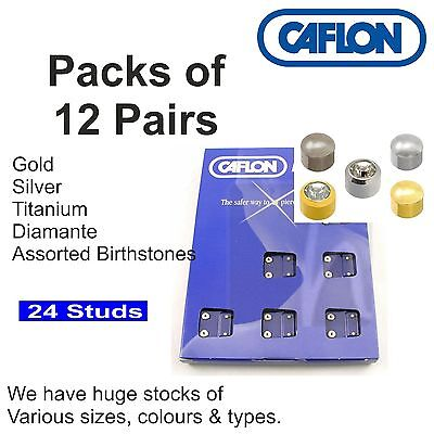 £13.99 • Buy Ear Studs PACKS Of 12 PAIRS Caflon All Sizes Types Colurs Stocked