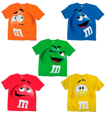 $21.95 • Buy Adult & Youth Kids M&M's M&M Face Chocolate Candy Costume T-Shirt Tee M M Shirt