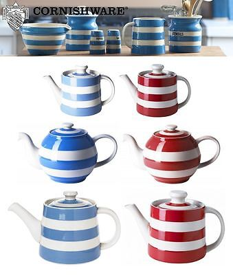 Cornishware Blue Or Red White Stripe Classic, Betty Or Rosie Family Teapot • 35£