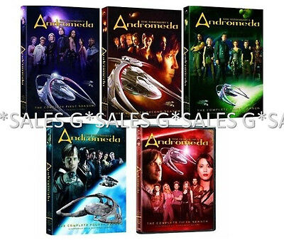 Andromeda Gene Roddenberry Complete TV Series Season 1-5 (1 2 3 4 5) NEW DVD SET • 86.79£