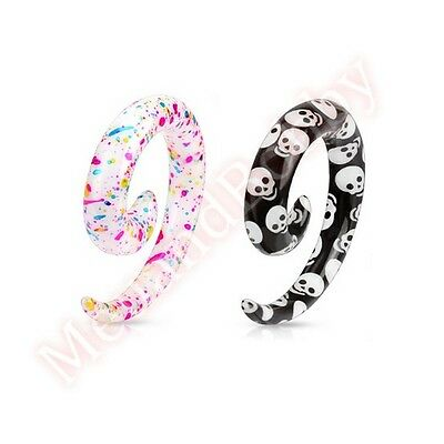 AU3.99 • Buy Spiral Ear Taper Stretcher Expander Body Jewellery CHOOSE DESIGN SINGLE OR PAIR