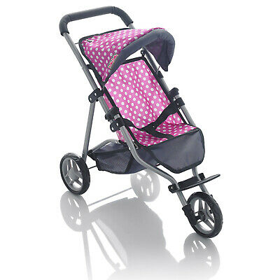 Molly Dolly 53cm My First 3 Wheeler Dolls Stroller Buggy Girls Pram Pushchair • 18.99£