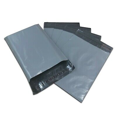 £5.99 • Buy 100 Mixed Grey Strong Self Seal Poly Plastic Postage Mailing Bags