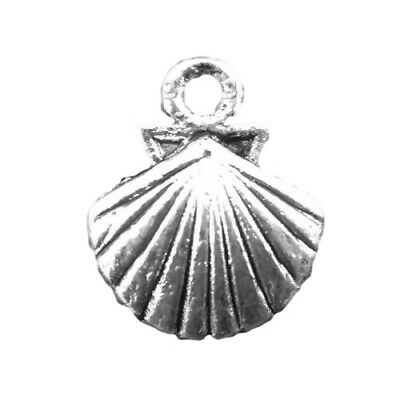 Shell Charm/Pendant Tibetan Antique Silver 14mm  15 Charms Accessory Jewellery • 2.09£