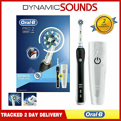 View Details Oral B Pro2 2500 Electric Toothbrush*Black With Travel Case* Limited Edition • 36.95£