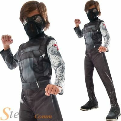 Boys Captain America Winter Soldier Costume Super Hero Fancy Dress Outfit • 16.98£