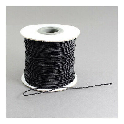 $ CDN5.31 • Buy Elastic String Cord Black 10M Continuous Length 1mm Thick