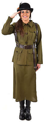 Ladies 1940s Army Home Guard Military Armed Forces Fancy Dress Costume Outfit • 32.99£