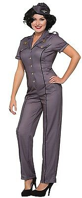 Ladies 1940s Army Air Force Armed Forces Military Fancy Dress Costume Outfit • 29.99£