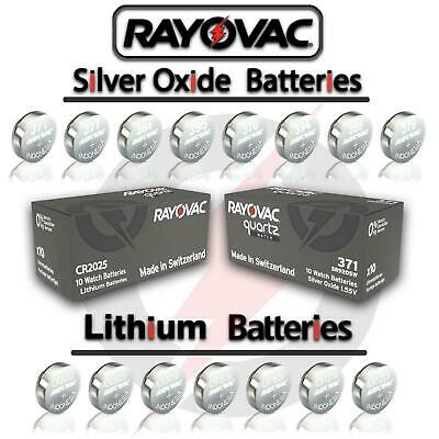 £1.99 • Buy 2X Rayovac Cell Battery Swiss Made Silver Oxide Lithium Batteries [All Sizes]