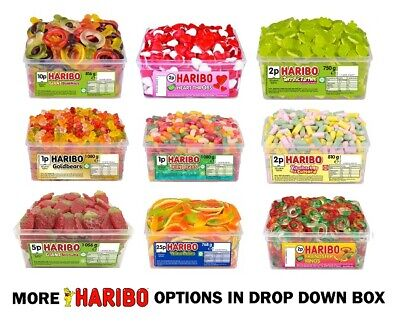 1 X FULL TUB OF HARIBO SWEETS DISCOUNT FAVOURS TREATS PARTY CANDY BOX FORM £1.99 • 9.91£