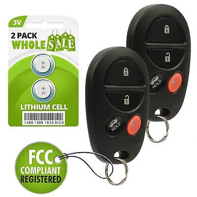 $ CDN18.75 • Buy 2 Replacement For 2004 2005 2006 2007 2008 Toyota Solara Key Fob Remote