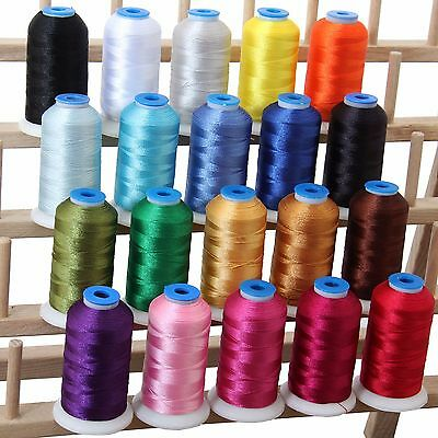 $27.99 • Buy Machine Embroidery Thread Sets - Polyester 20 Colors -8 Sets- Huge 1000 M Spools