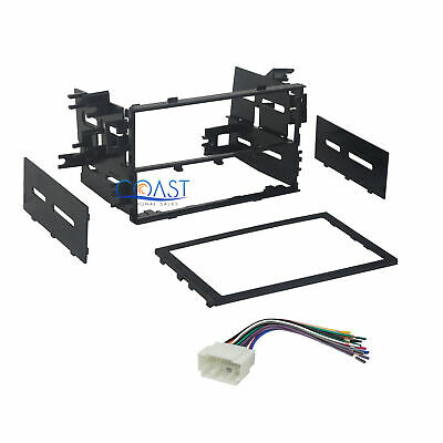 $14.95 • Buy Car Radio Stereo Double DIN Dash Kit Bezel Wire Harness For 1999-2008 Honda