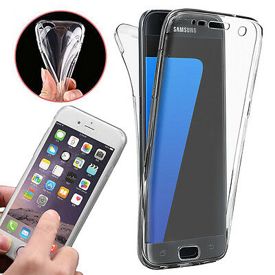 $ CDN5.27 • Buy TPU Soft Clear Front & Back Fully Protection Gel Case Cover For Various Phone