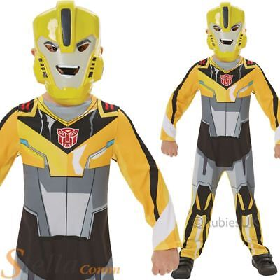 Boys Transformers Bumble Bee Costume Classic Superhero Fancy Dress Outfit • 17.98£