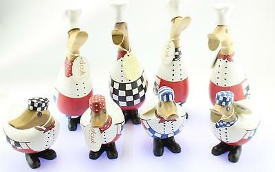 DCUK Wooden Duck Ornament Mantle Piece Decoration Chef Designs Duckys Ducklings • 15.99£