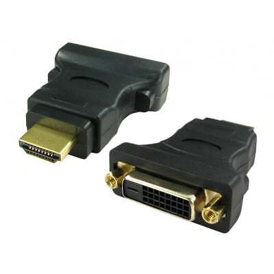 AU4.66 • Buy DVI To HDMI Adaptor DVI-D Digital Monitor Cable Lead Converter Adapter GOLD