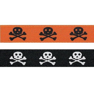 £4.30 • Buy Natural Charms Pirate Skull And Crossbones Berisfords Ribbon 4m X 15mm
