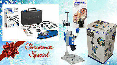 Dremel NEW 4000-65 ROTARY MULTI TOOL + Dremel 220 Worksation + Dremel 4486 Chuck • 165£