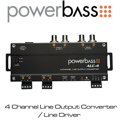 Powerbass ALC-4 - 4/2 Channel Line Output Converter / High To Low Level Adaptor • 69.99£
