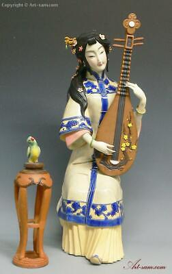 $ CDN543.43 • Buy 16  LARGE Masterpiece Chinese Ceramic Porcelain Figurine Musician Lady Pipa