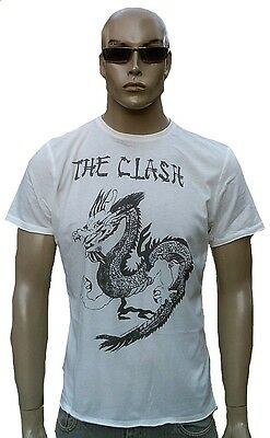 £29.51 • Buy IKONS Amplified Official THE CLASH Dragon Rock Star Tattoo T-Shirt G.S