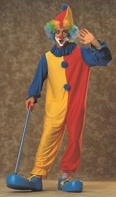 $16.95 • Buy Mens Adult Funny Rainbow CLOWN Costume Outfit
