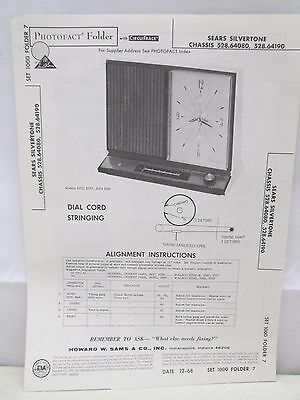 $ CDN20.66 • Buy Sams Photofact Folder Parts Manual Sears Silvertone Chassis 528.64080 Etc Clock