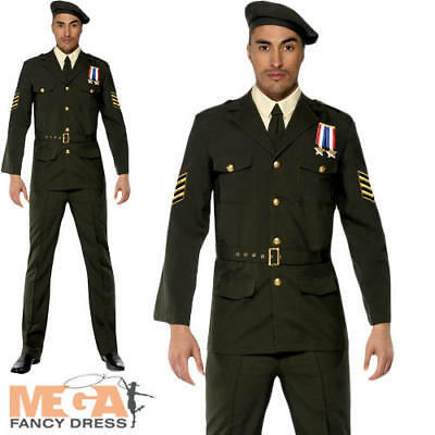 Military Army Officer 1940s Fancy Dress Mens James Bond Costume Adult Outfit New • 47.99£