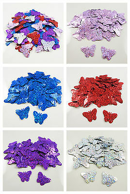 BUTTERFLY 22mm HOLOGRAPHIC SEQUINS EMBELLISHMENTS *7 COLOURS* SEWING CARD CRAFTS • 1.49£