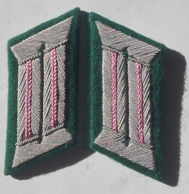 Ww2 German Army Officer Collar Tabs Panzer Pink • 10.79£