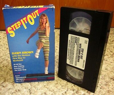 DAWN BROWN Legs Workout Step Training Exercises 1990 Aerobics VHS Benching • 10.85£