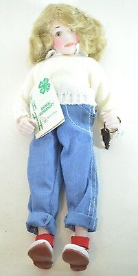 $14.99 • Buy Norman Rockwell NELL Porcelain Character Doll Rumbleseat Handcrafted Germany NEW