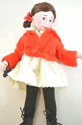 $14.99 • Buy Norman Rockwell TINA Porcelain Character Doll Rumbleseat Handcrafted Germany NEW
