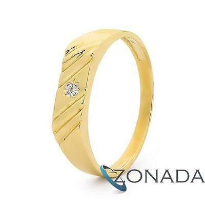 AU538.80 • Buy New MENS Diamond 9ct 9k Solid Yellow Gold Ring Size U 10.25 23492