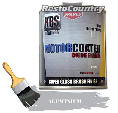 AU74.90 • Buy KBS Motor Coater Engine Enamel 500mls ALUMINIUM High Temperature Paint