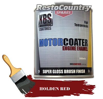 AU74.90 • Buy KBS Motor Coater Engine Enamel 500ml HOLDEN RED EH HD HR 149-186 High Temp Paint