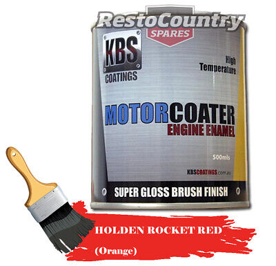 AU74.90 • Buy KBS Motor Coater Engine Enamel 500mls HOLDEN ROCKET RED (orange) High Temp Paint