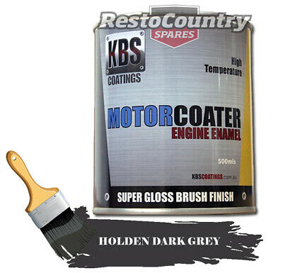 AU74.90 • Buy KBS Motor Coater Engine Enamel 500mls HOLDEN DARK GREY High Temperature Paint